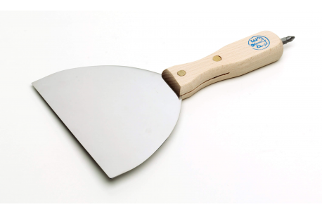 Couteau inox avec insert de tournevis pour marmorino et stucs à la chaux