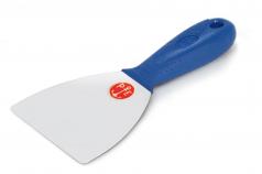 Couteau inox avec angles arrondis et manche en plastique pour stucs à la chaux Gamme Pavan