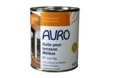 Huile naturelle AURO pour entretien terrasse n°110-89 - Teinte Mélèze