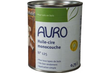 Huile cire monocouche n°125 AURO - Pot de 0,75L