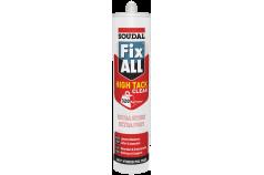 Colle FIX ALL High Tack Clear pour plaques et panneaux de liège/bois