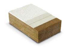 Panneau à rainure languette en fibre de bois pour façade, support d'enduit STEICO PROTECT