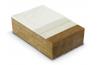 Panneau en fibre de bois pour façade, support d'enduit
